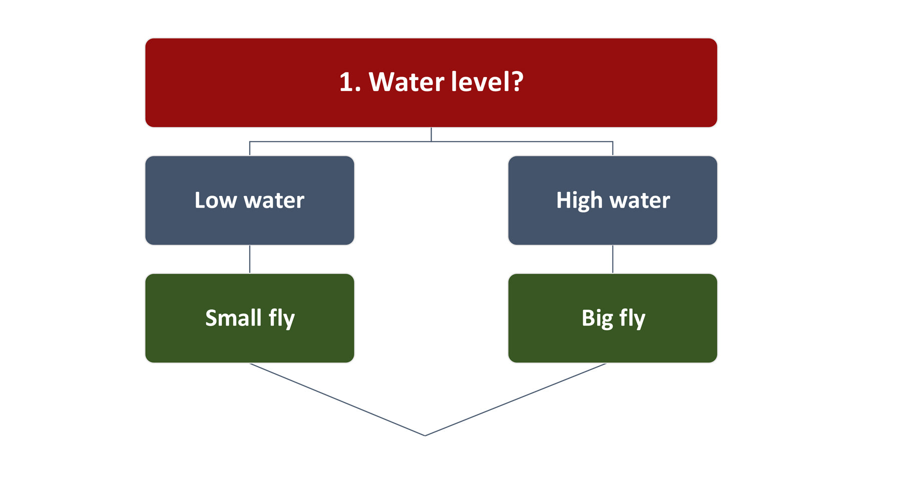 Fly Fishing water level graphic