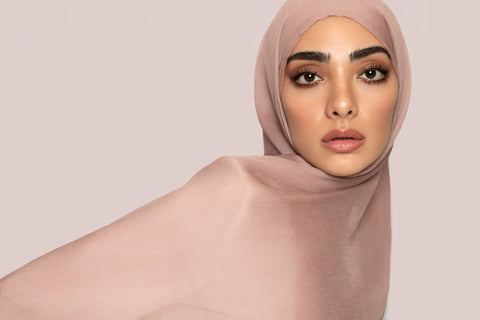 DUSTY PINK SILK GEORGETTE HIJAB