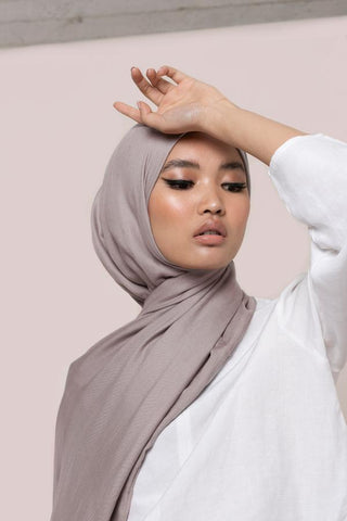 feather grey modal hijab