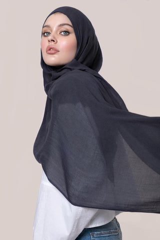 navy cotton hijab