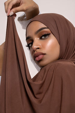 Brown Soft Touch Jersey Hijab