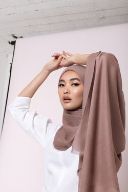 Dusty Pink Cotton Twill Hijab
