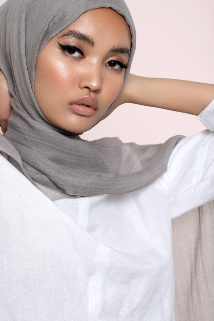 Light Grey Modal Silk Hijab