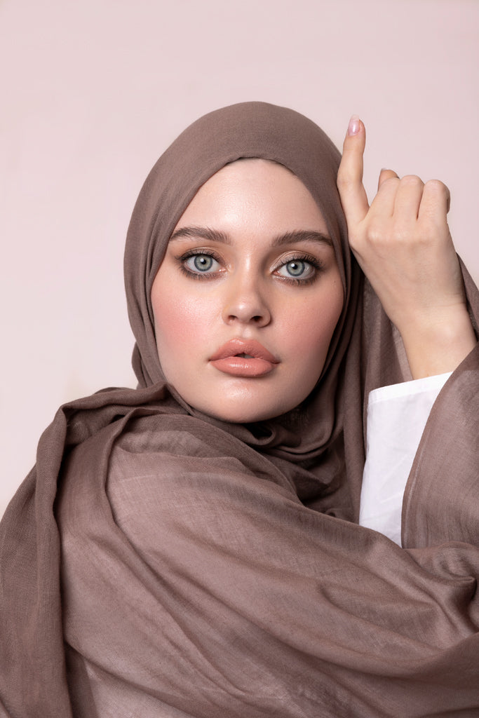 Mocha Cotton Modal Hijab