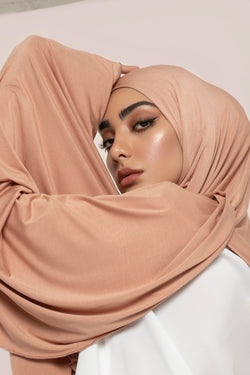 Warm Nude Soft Touch Jersey Hijab