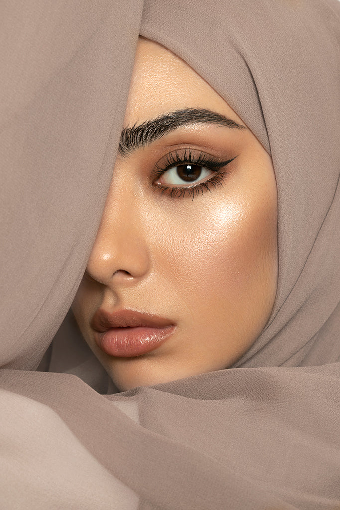 Warm Nude Silk Georgette Hijab