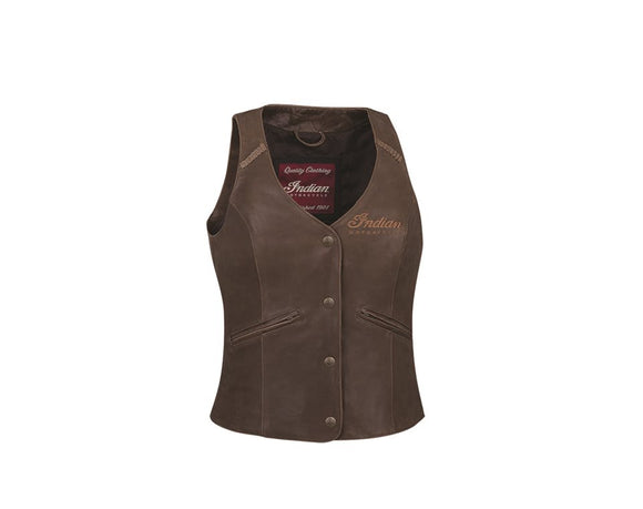 WOMENS INDIAN MOTORCYCLE®BROWN LEATHER VEST
