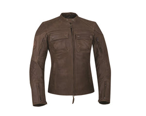 WOMENS BENJAMIN JACKET - BROWN LEATHER