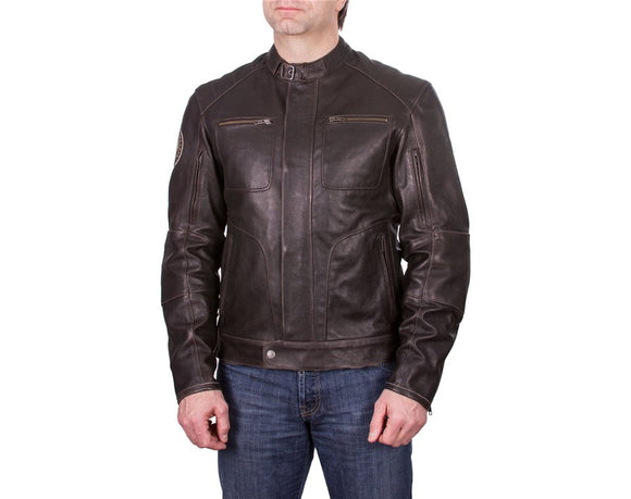 MENS ROCKER LEATHER RIDING JACKET
