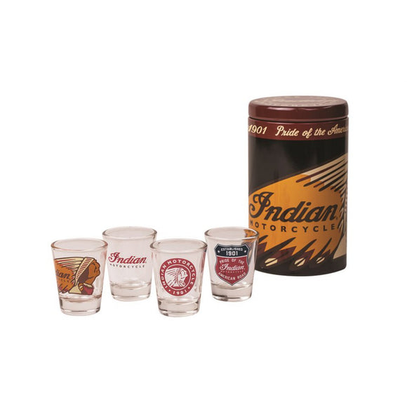 INDIAN MOTORCYCLE SHOT GLASSES