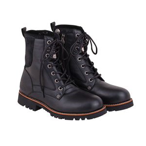 MEN'S CLASSIC LACE UP BLACK PROTECTIVE BOOTS