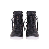 MEN'S PROTECTIVE RIDING SNEAKER - BLACK LEATHER