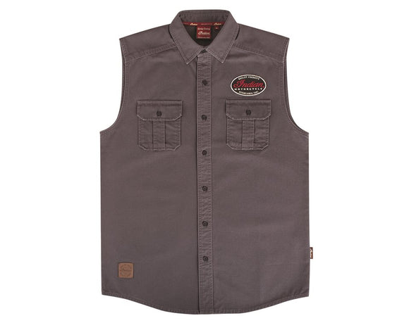 MENS GREY CANVAS SHIRT