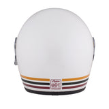 Full Face Retro Helmet with Stripes, White
