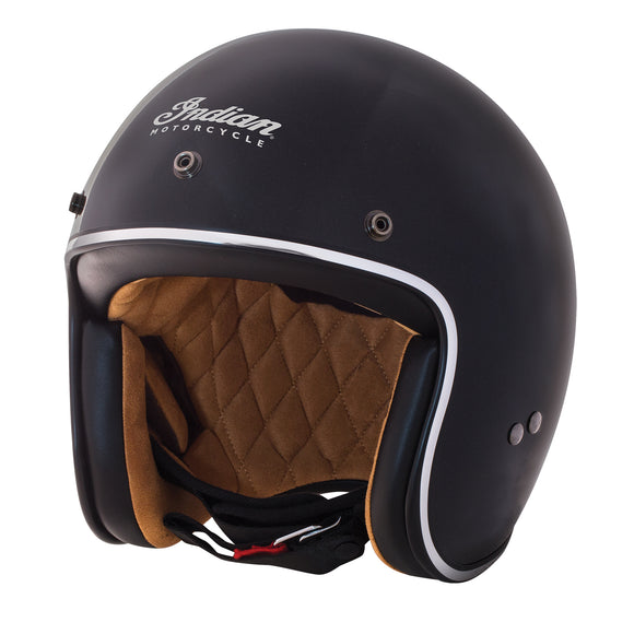 Open Face Retro Helmet Gloss Black