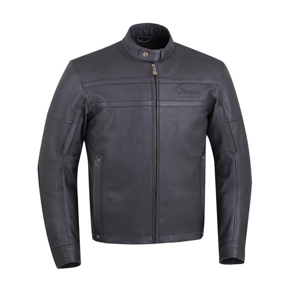 MENS BLACK LEATHER BECKMAN RIDING JACKET