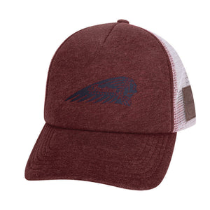 Port Trucker Hat with Printed Headdress