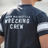 Men's Wrecking Crew T-Shirt with Stripe, Gray - NEW