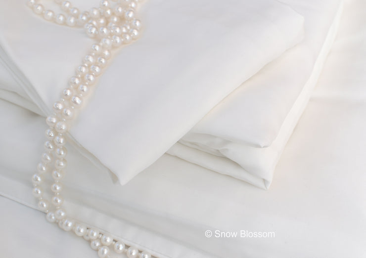 Cot Bed Silk Duvet Cover - Habotai - Snow Blossom