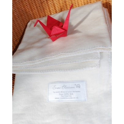 Silk Blanket For Travel - Snow Blossom Limited