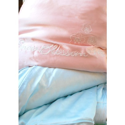 Cot Bed Silk Filled Duvet With Silk Casing - Snow Blossom