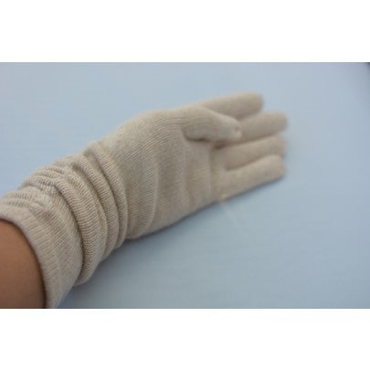 Pure Cashmere Gloves - Long - Snow Blossom