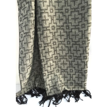 100% Fine Cashmere Scarf Cross - Snow Blossom Limited
