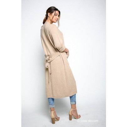 Cashmere Long Cardigan/Dressing Gown - Snow Blossom Limited