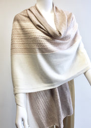 Cashmere Wrap - Three Colours Combo - Snow Blossom