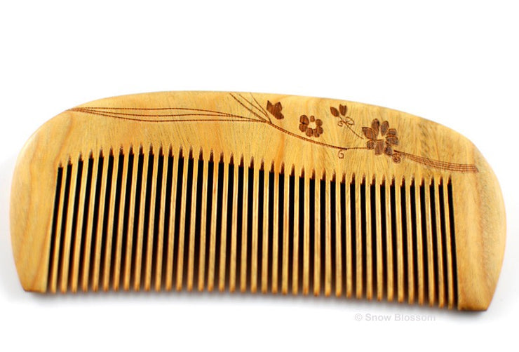 Verawood Comb For Normal Hair - Snow Blossom Limited