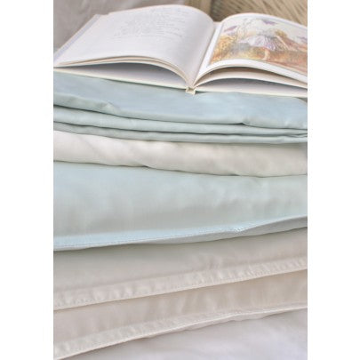 Cot Bed Silk Filled Pillow With Silk Casing - Snow Blossom
