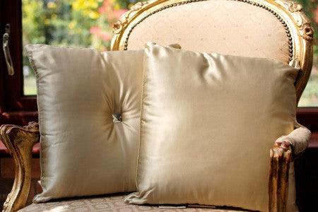 Silk Filled Cushions With Silk Casing - Snow Blossom