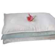 Cot Bed Silk Filled Pillow With Cotton Casing - Snow Blossom