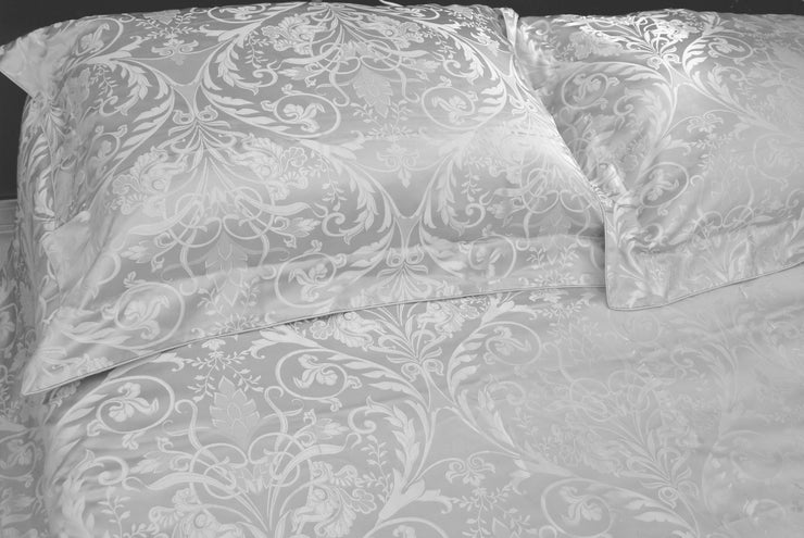 22 Momme Silk Pillowcases - Grandi Flora - Snow Blossom