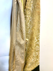 Silk Dressing Gown With Silk Lining - Rosemary - Snow Blossom
