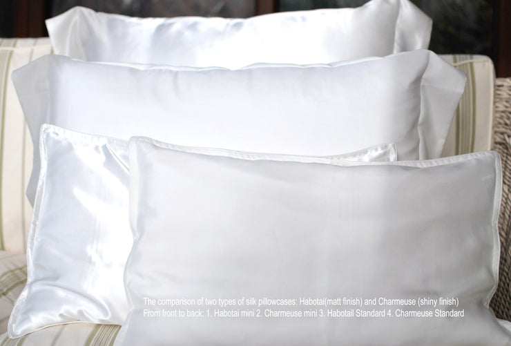 Pure Silk Pillowcases - Charmeuse - Snow Blossom Limited