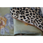 100% Pure Silk Scarves - Rose & Leopard - Snow Blossom