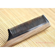 Vera Wood/Buffalo Horn Long Tail Comb - Snow Blossom