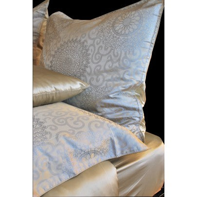Charmeuse Silk Fitted Sheets - Snow Blossom