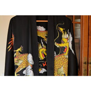 Hand Painted Silk Kimono For Men - Snow Blossom