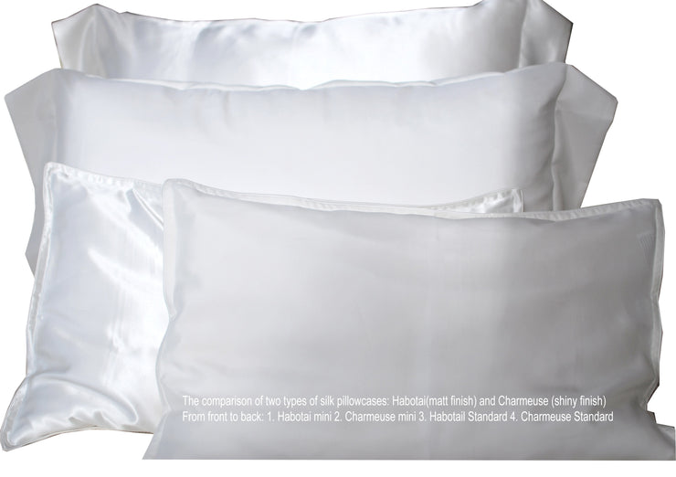 Travel Silk Pillowcases - 19momme - Snow Blossom