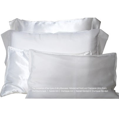 Habotai Silk Pillowcases - Snow Blossom