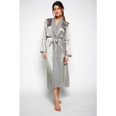 Silk Dressing Gowns - Grace - Snow Blossom