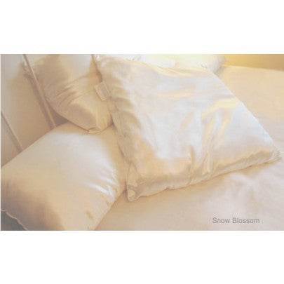 100% Silk Filled Pillows With Silk Casing - Snow Blossom