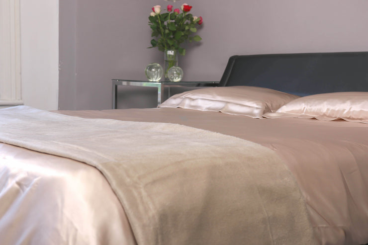 Pure Silk Blankets - Duckegg - Snow Blossom Limited