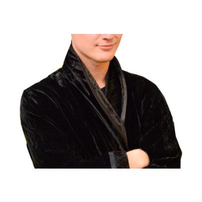 Silk Velvet Dressing Gown For Men - Snow Blossom
