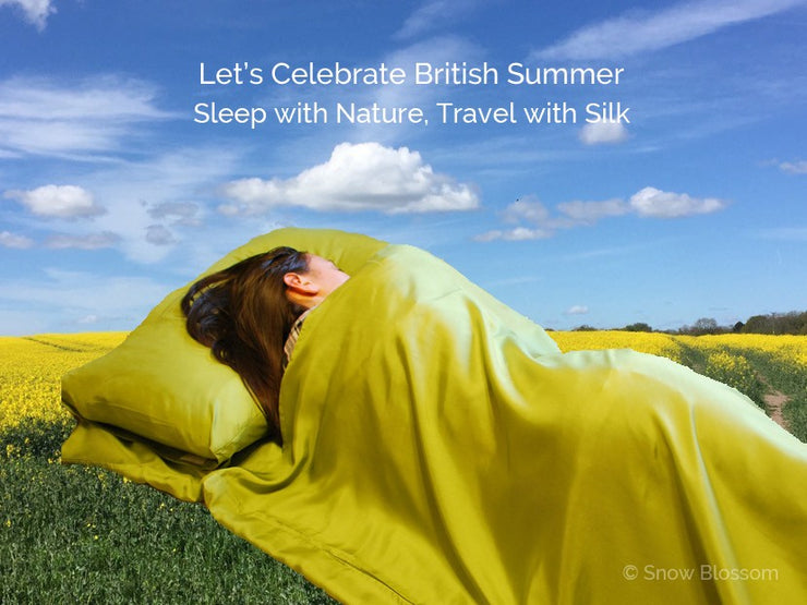 Silk Sleeping Bag Liner - Snow Blossom