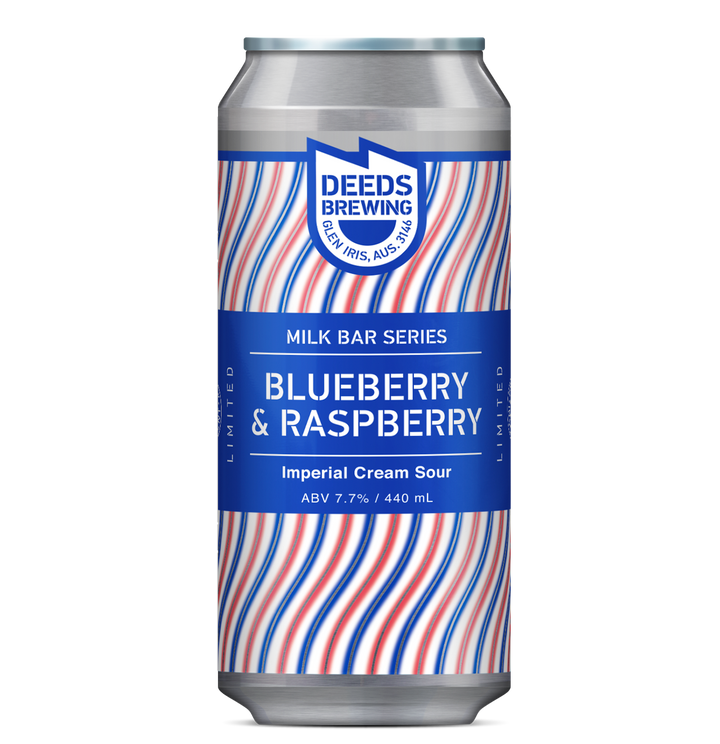 Deeds - Milk Bar Series Blueberry & Raspberry - 440ml Can