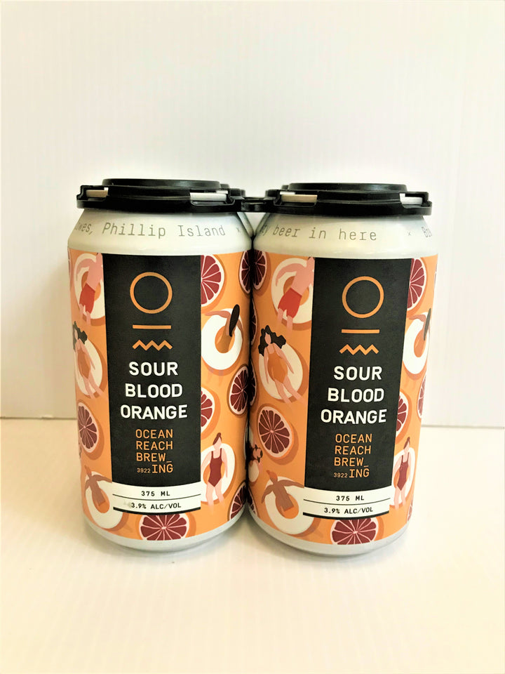 Ocean Reach Brewing - Sour Blood Orange 375ml Can - 4 Pack