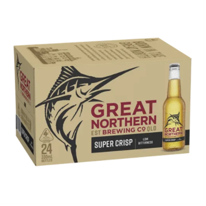 Great Northern Super Crisp Lager 330ml Stubbies - Case
